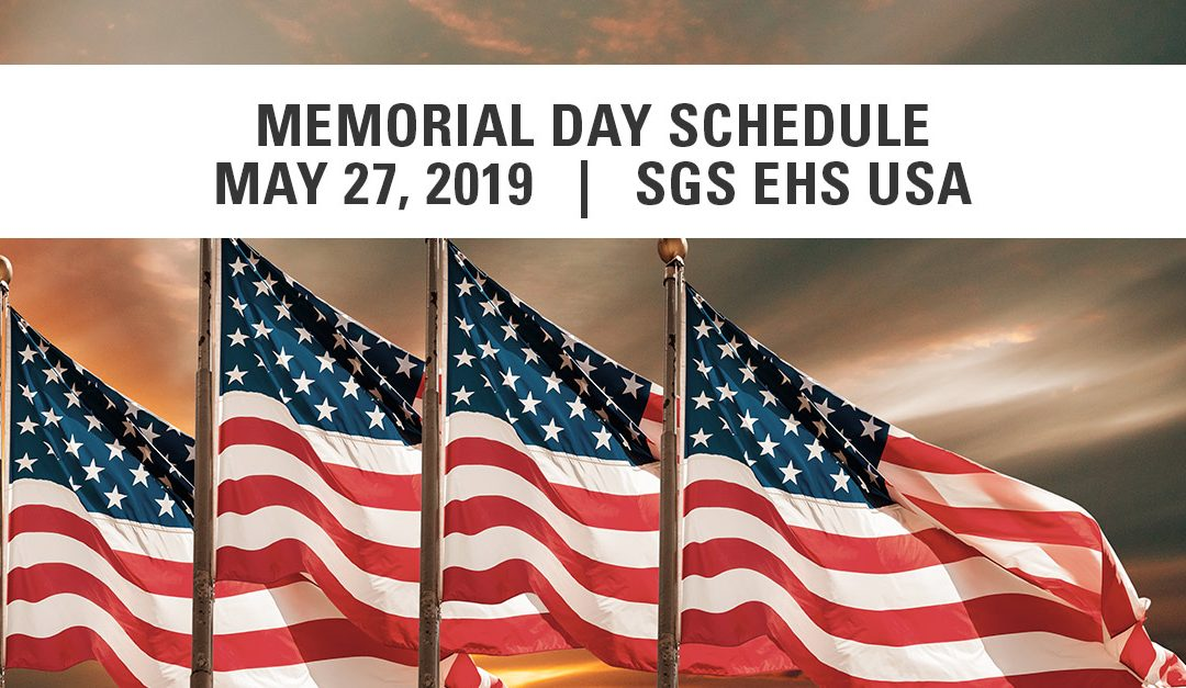 SGS Galson 2019 Memorial Day Schedule