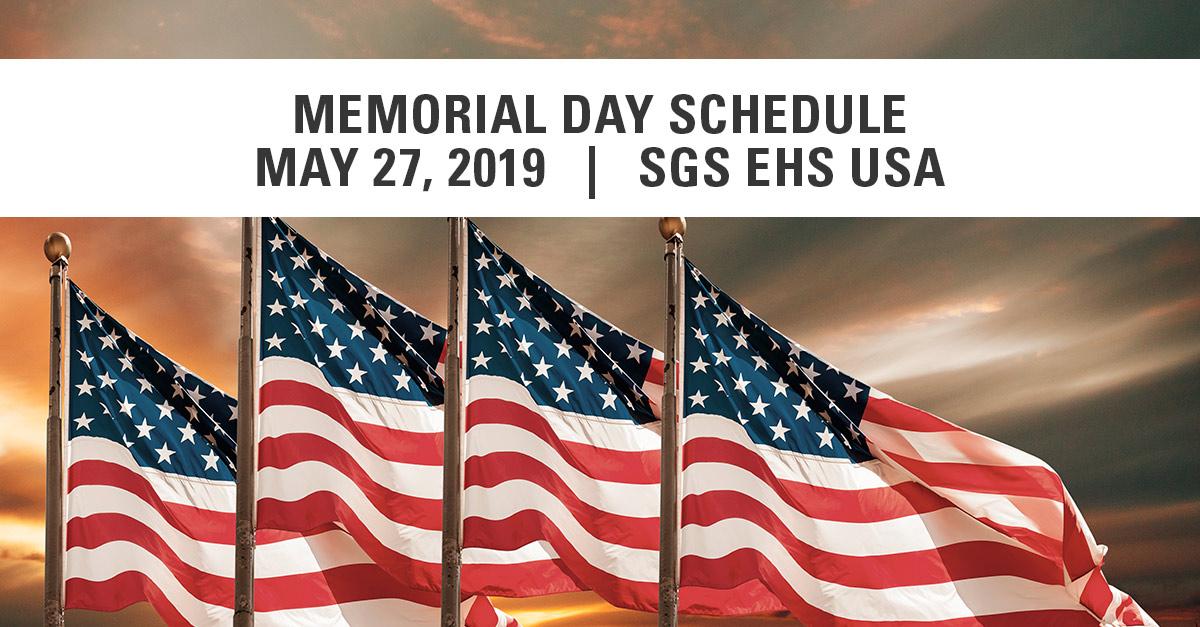 SGS Galson 2019 Memorial Day Schedule