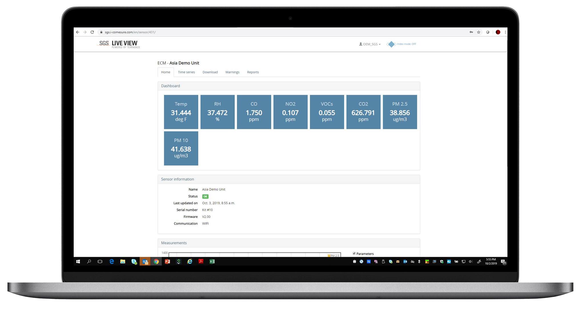 SGS SmartSense Live View - Sensor Info