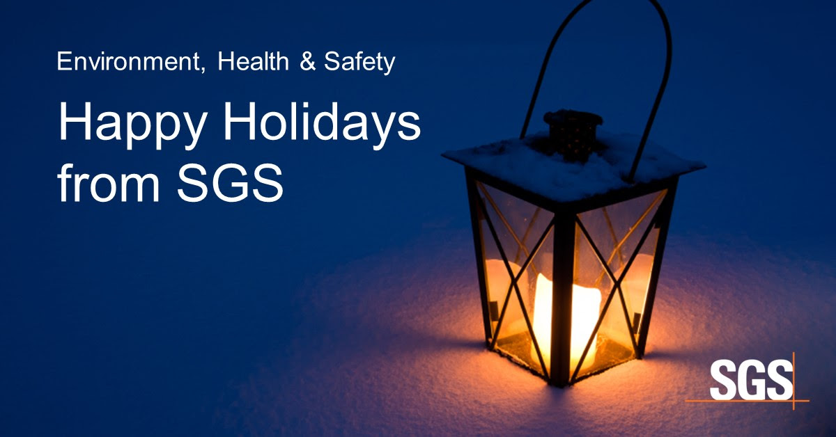 Holiday Schedule from SGS Galson