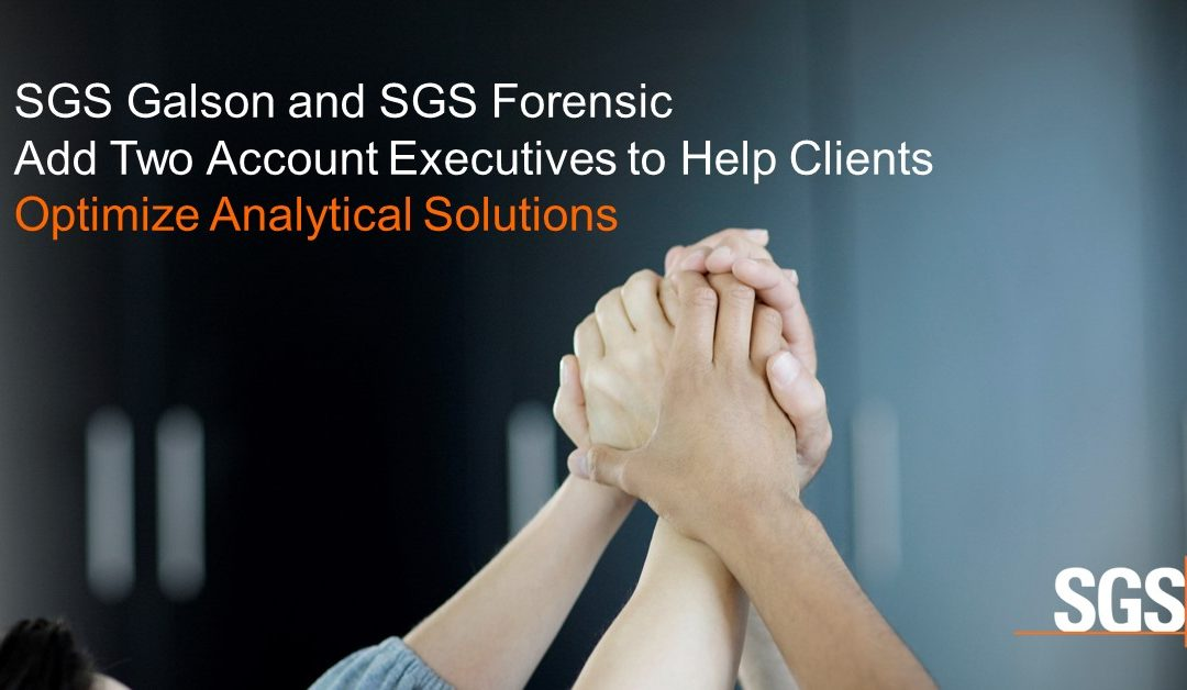 SGS Galson Adds Two Account Executives to Help Clients Optimize Analytical Solutions